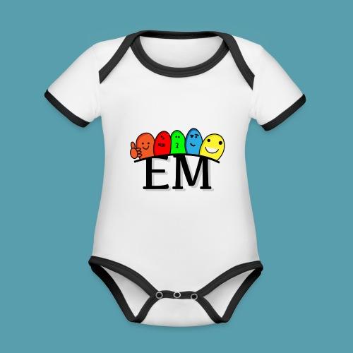 EM - Vauvan kontrastivärinen, lyhythihainen luomu-body