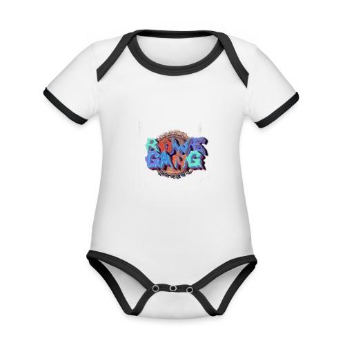 RoweGang Basic Logo - Vauvan kontrastivärinen, lyhythihainen luomu-body