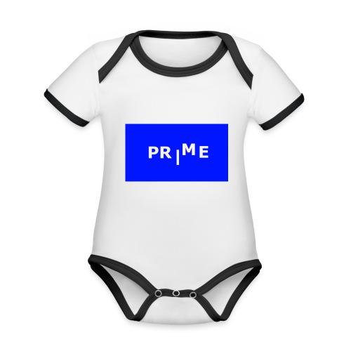PR ME - Ekologisk kontrastfärgad kortärmad babybody
