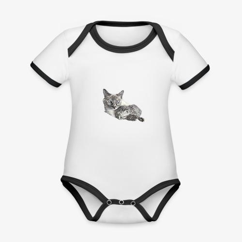 Snow and her baby - Organic Baby Contrasting Bodysuit