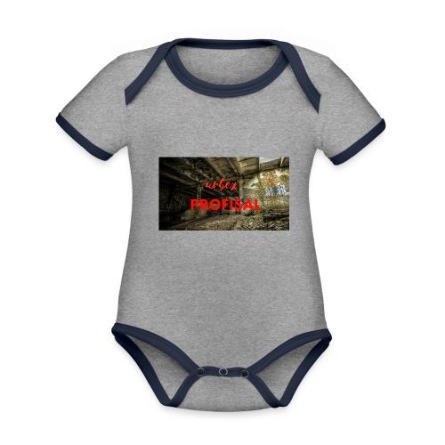profisal - Ekologiczne body niemowlęce z krótkim rękawem i kontrastowymi lamówkami