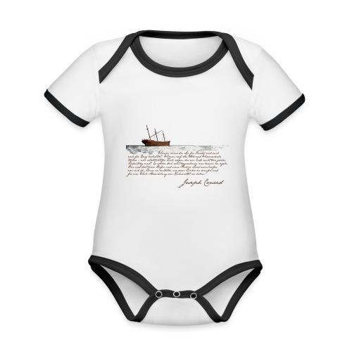 conradwrack - Baby Bio-Kurzarm-Kontrastbody