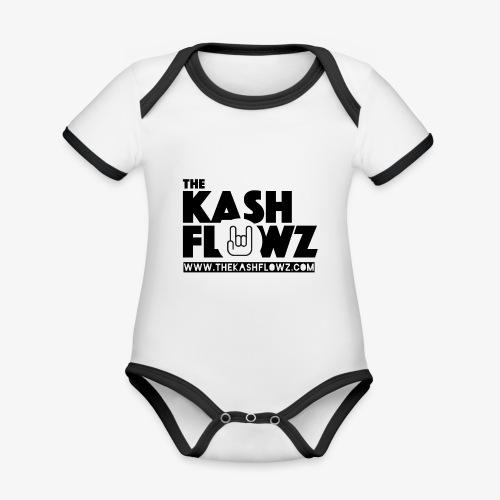 The Kash Flowz Official Web Site Black - Body Bébé bio contrasté manches courtes