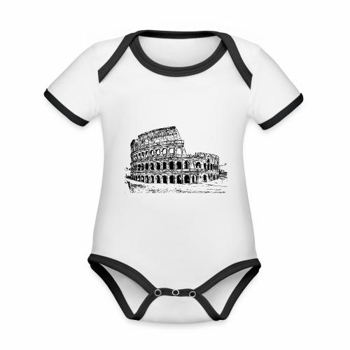 Kolosseum - Baby Bio-Kurzarm-Kontrastbody