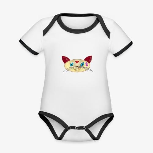 GATO PAOART - Body contraste para bebé de tejido orgánico
