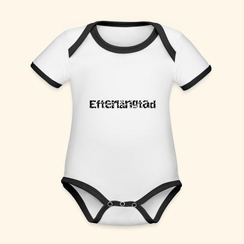 efterlängtad - Ekologisk kontrastfärgad kortärmad babybody