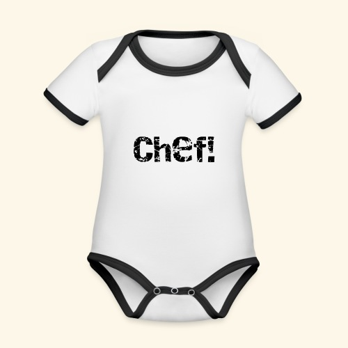 chef! - Ekologisk kontrastfärgad kortärmad babybody