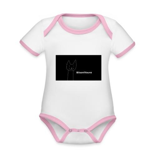 biisonivauva - Vauvan kontrastivärinen, lyhythihainen luomu-body
