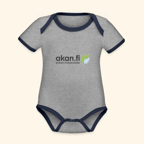 Akan Black - Ekologisk kontrastfärgad kortärmad babybody