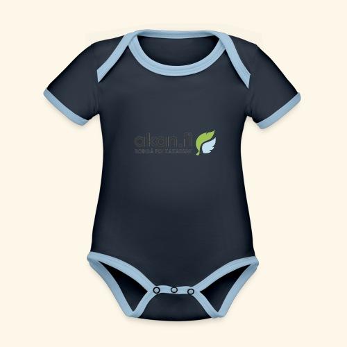 Akan Black - Vauvan kontrastivärinen, lyhythihainen luomu-body