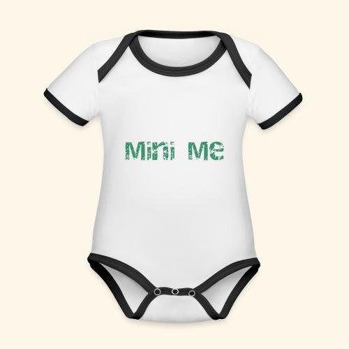 minime - Ekologisk kontrastfärgad kortärmad babybody