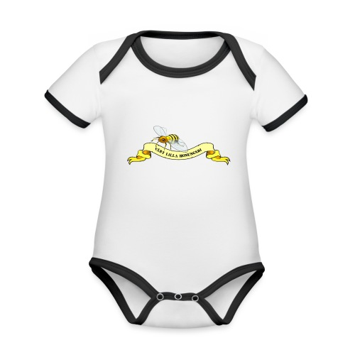 Vårt Lilla Honungsbi - Ekologisk kontrastfärgad kortärmad babybody