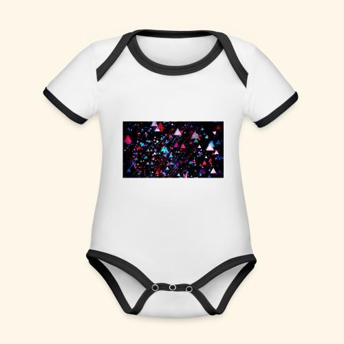 T-Shirts - Baby contrasterend bio-rompertje met korte mouwen