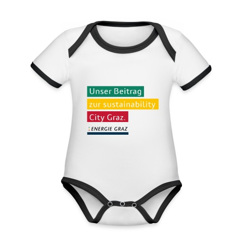 Energie Graz Vision - Baby Bio-Kurzarm-Kontrastbody