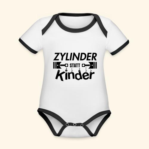 Zylinder Statt Kinder - Baby Bio-Kurzarm-Kontrastbody