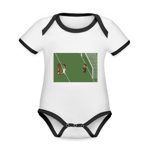 Backheel goal BG - Organic Baby Contrasting Bodysuit