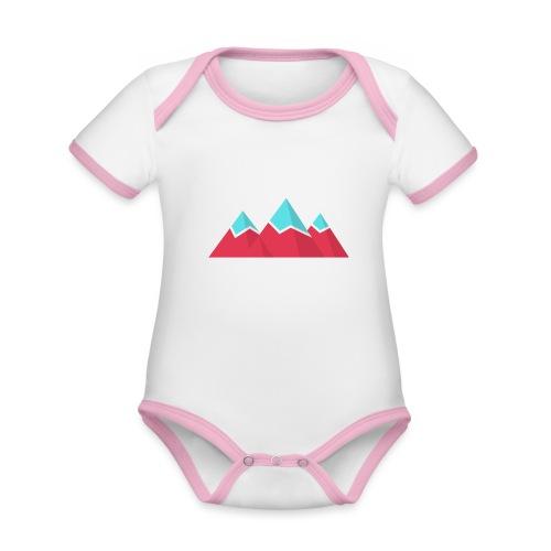 Alpintouren Logo - Baby Bio-Kurzarm-Kontrastbody