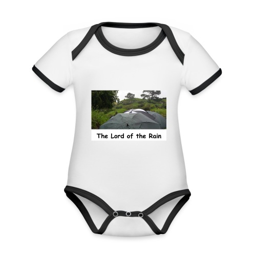The Lord of the Rain - Neuseeland - Regenschirme - Baby Bio-Kurzarm-Kontrastbody