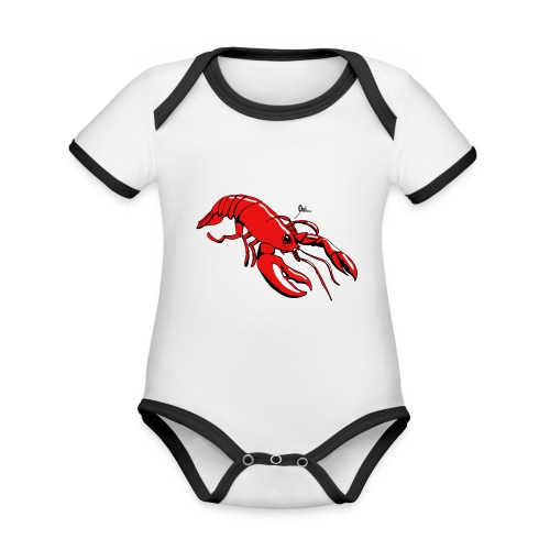 Lobster - Organic Baby Contrasting Bodysuit