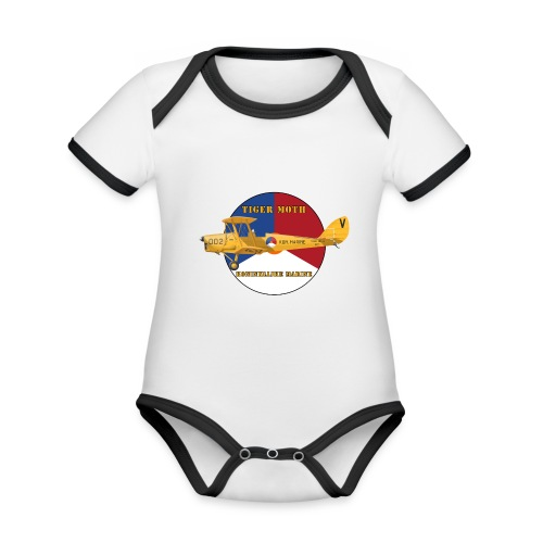 Tiger Moth Kon Marine - Organic Baby Contrasting Bodysuit