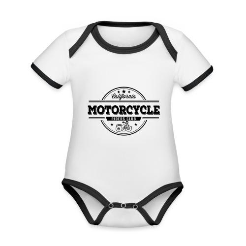 Baby Motorrad - Baby Bio-Kurzarm-Kontrastbody
