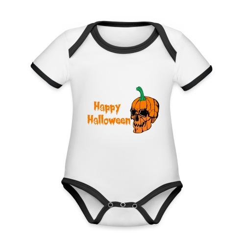 Happy Halloween - Organic Baby Contrasting Bodysuit