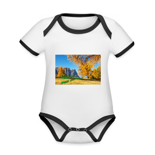 Südtirol - was sonst? - Baby Bio-Kurzarm-Kontrastbody
