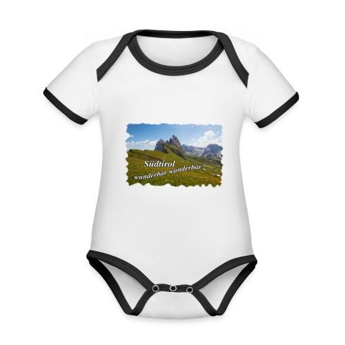 Südtirol - wunderbar wanderbar - Baby Bio-Kurzarm-Kontrastbody