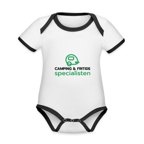 Camping & Fritidsspecialisten - Ekologisk kontrastfärgad kortärmad babybody