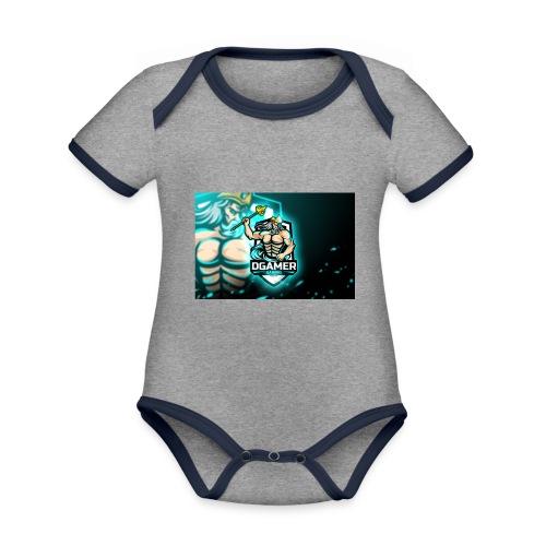 8251831F EA3A 4726 A475 A5510CDECB5A - Ekologisk kontrastfärgad kortärmad babybody