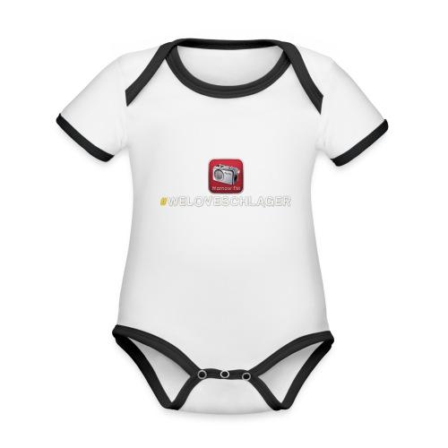 WeLoveSchlager 1 - Baby Bio-Kurzarm-Kontrastbody