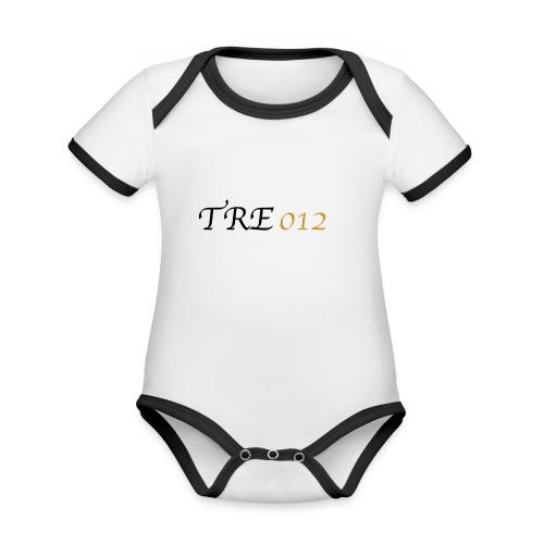 TRE012 - Body da neonato a manica corta, ecologico e in contrasto cromatico