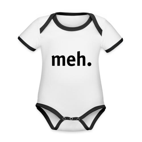 meh. - Organic Baby Contrasting Bodysuit