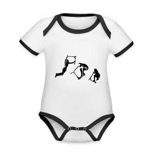 Stunt Scooter in Action Kickflip Freerider - Baby Bio-Kurzarm-Kontrastbody
