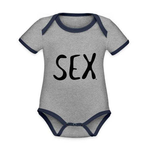 sex putetrekk - Økologisk kortermet kontrast-babybody