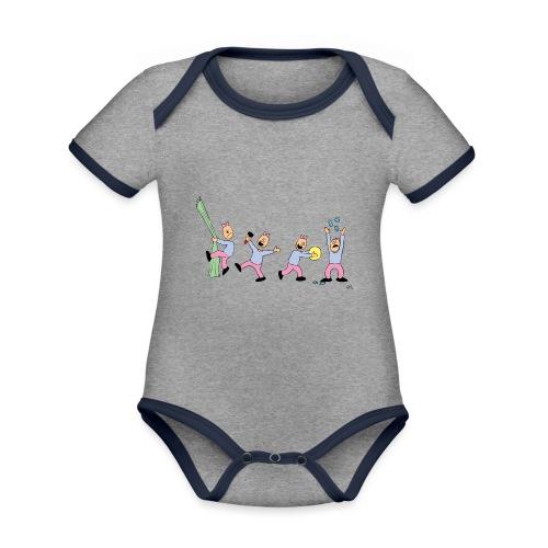 toern babybody - Økologisk kortermet kontrast-babybody