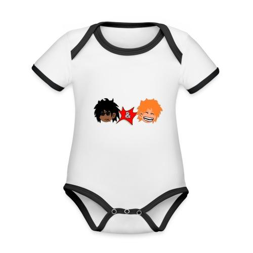 T-shirt F&Y - Body Bébé bio contrasté manches courtes