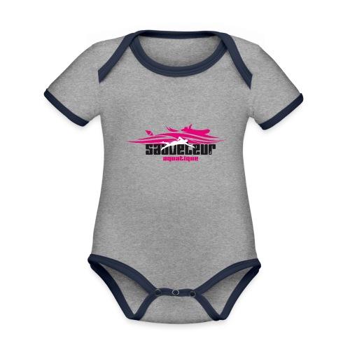 sauveteur aquatique - Body Bébé bio contrasté manches courtes