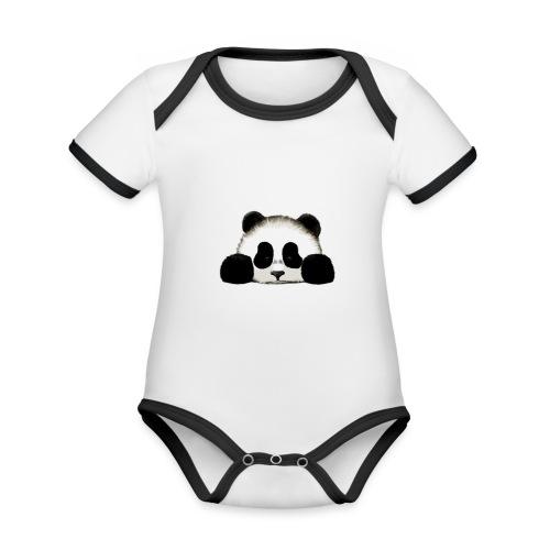 panda - Organic Baby Contrasting Bodysuit