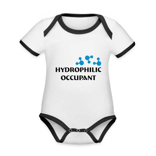 Hydrophilic Occupant (2 colour vector graphic) - Organic Baby Contrasting Bodysuit