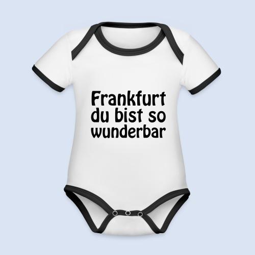 FRANKFURT Du bist so - Baby Bio-Kurzarm-Kontrastbody