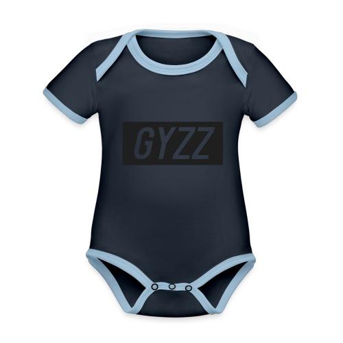 Gyzz - Kortærmet økologisk babybody i kontrastfarver