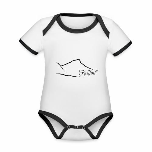 Fjellfint - Økologisk kortermet kontrast-babybody