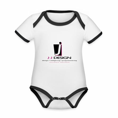 LOGO_J-J_DESIGN_FULL_for_ - Kortærmet økologisk babybody i kontrastfarver