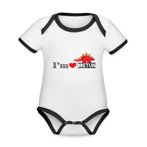 bretun negro - Body contraste para bebé de tejido orgánico