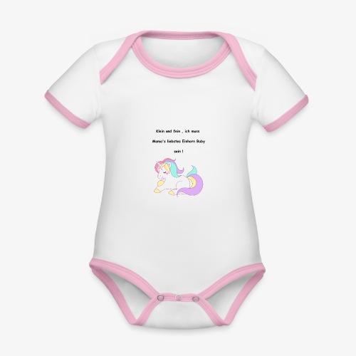Einhorn Baby - Baby Bio-Kurzarm-Kontrastbody