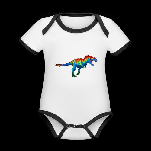 T-Rex - Organic Baby Contrasting Bodysuit