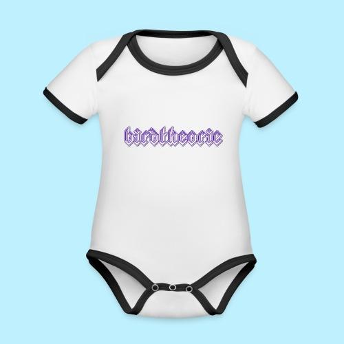 birdtheooooo - Baby contrasterend bio-rompertje met korte mouwen