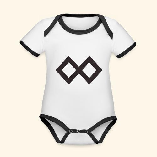 TenX Logo - Baby Bio-Kurzarm-Kontrastbody