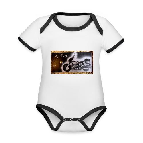 MP-kuva - Vauvan kontrastivärinen, lyhythihainen luomu-body